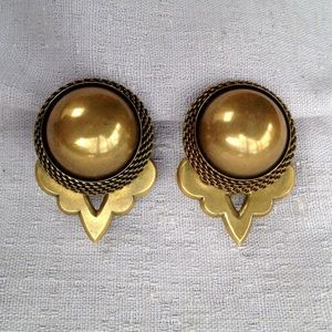 Big Bold Brass Earrings by Jan Michaels